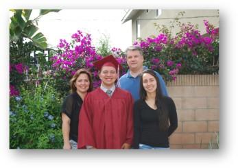 John's grad family